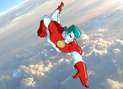flying like a true dickhead