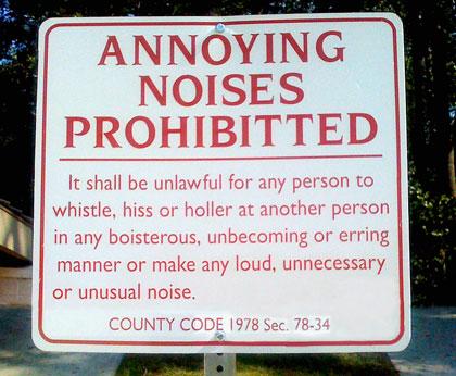 No Annoying Noises
