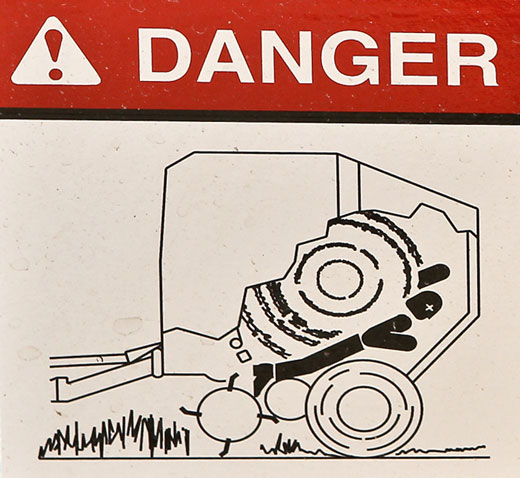 Warning Sign Mangled